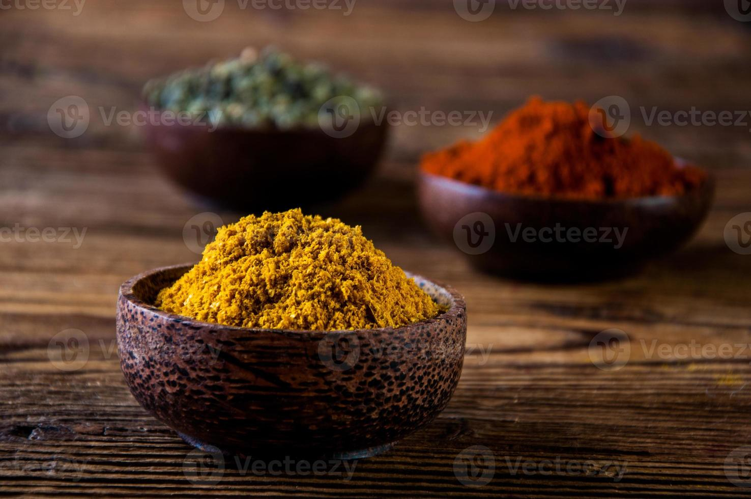 Asian hot theme with spices photo