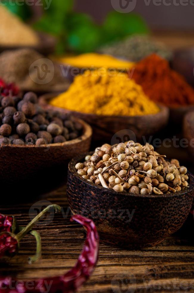 Traditional oriental them with spices photo