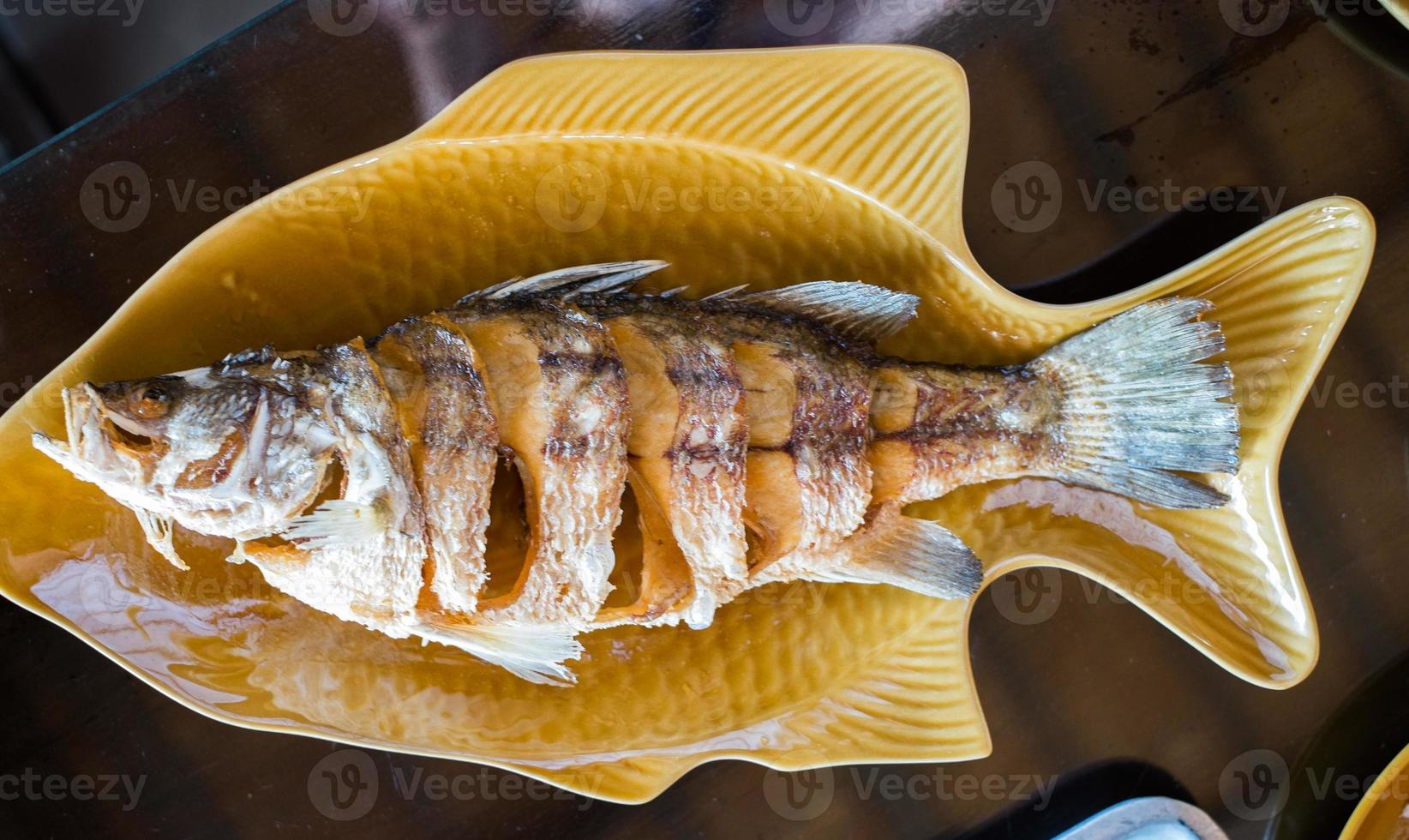 Deep Fried Marinated Snapper-the whole fish photo