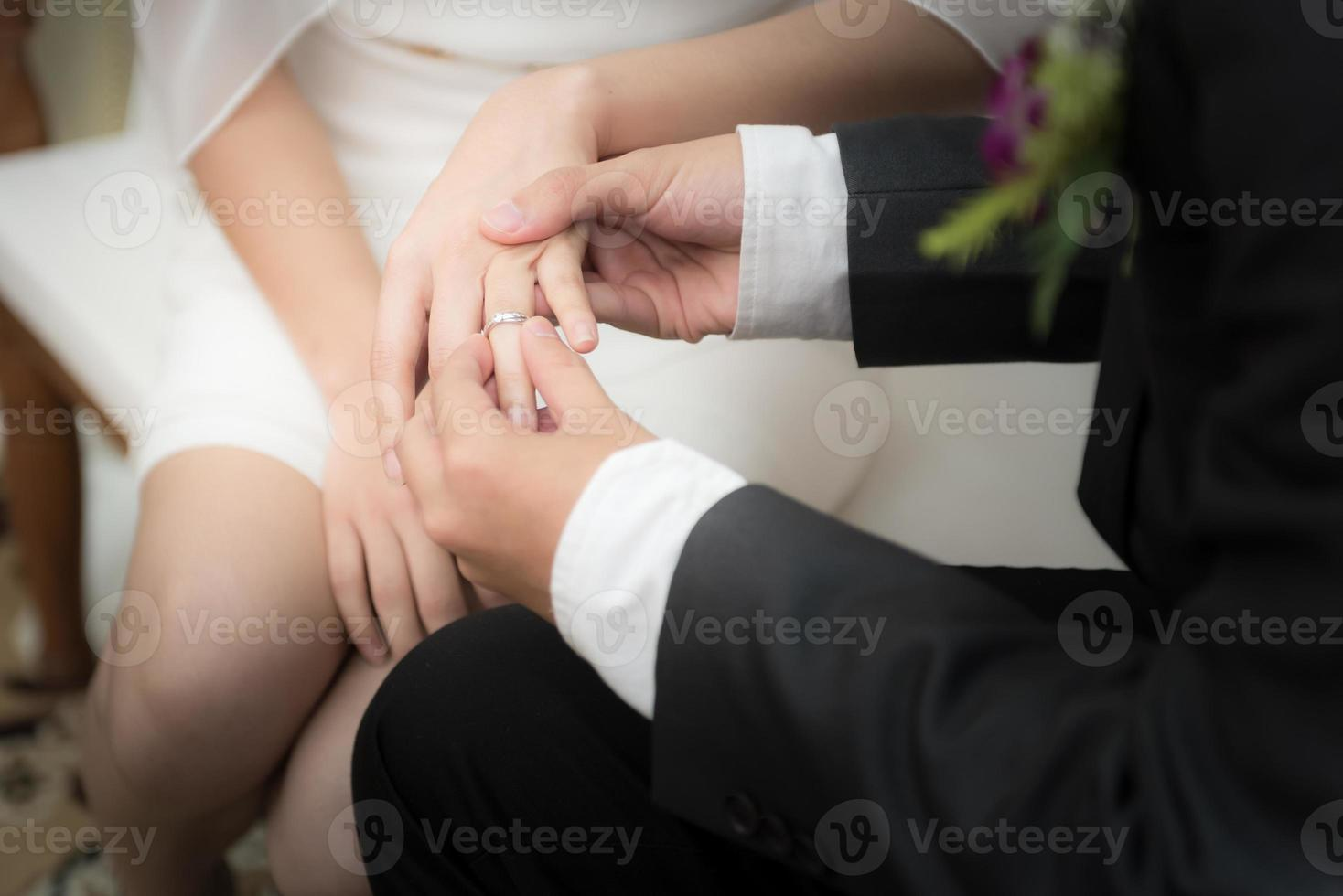 Wedding rings, soft focus photo