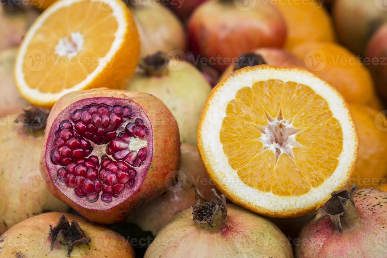 granada y naranja foto