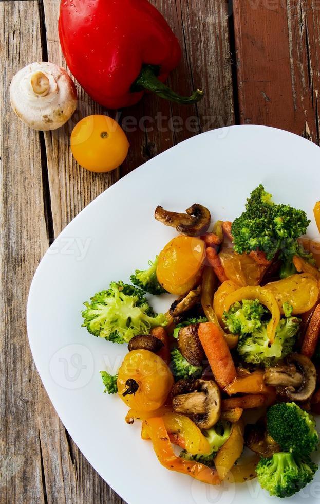 Grilled vegetables photo