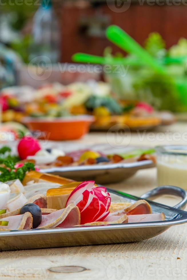buffet al aire libre foto