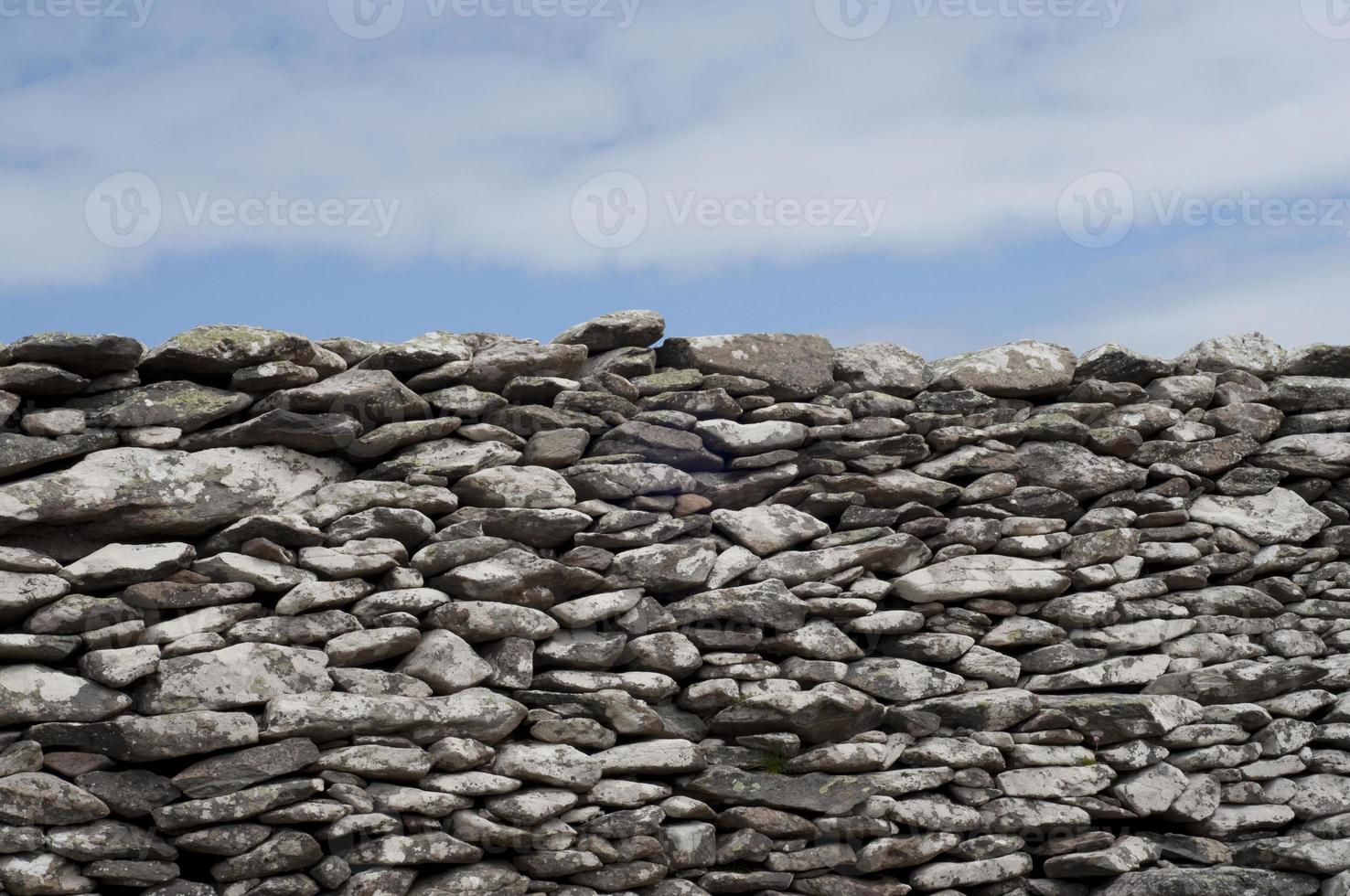 Rock Wall and Sky photo