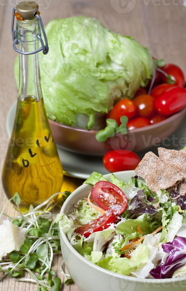 light vegetable salad photo