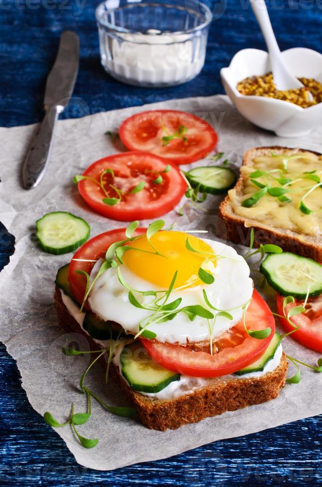 Sandwich with vegetables photo