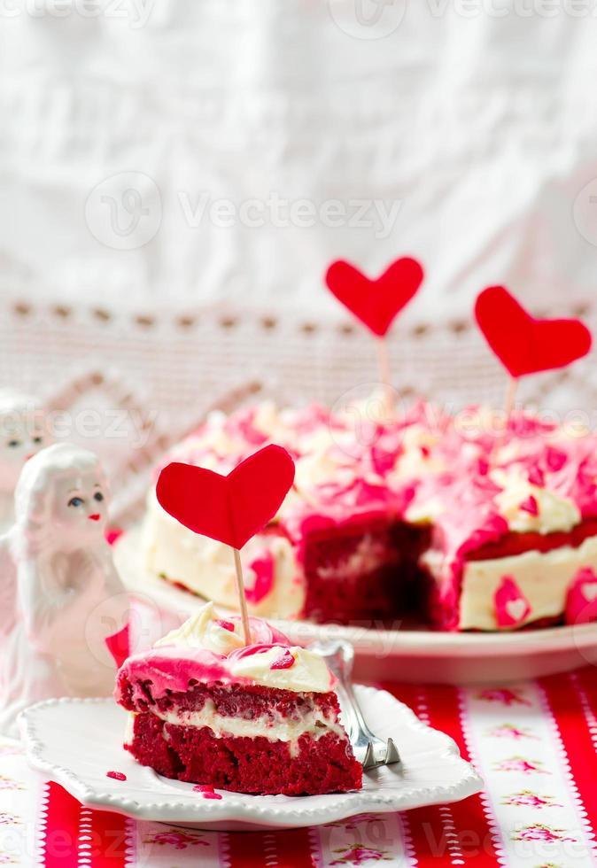 """ pastel de terciopelo rojo foto"