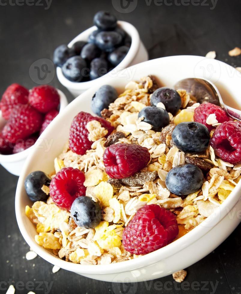 Muesli with Berries for Breakfast photo