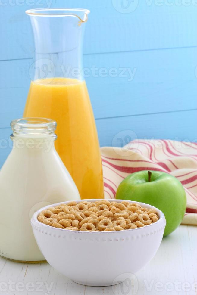 Delicious and healthy honey nuts cereal photo