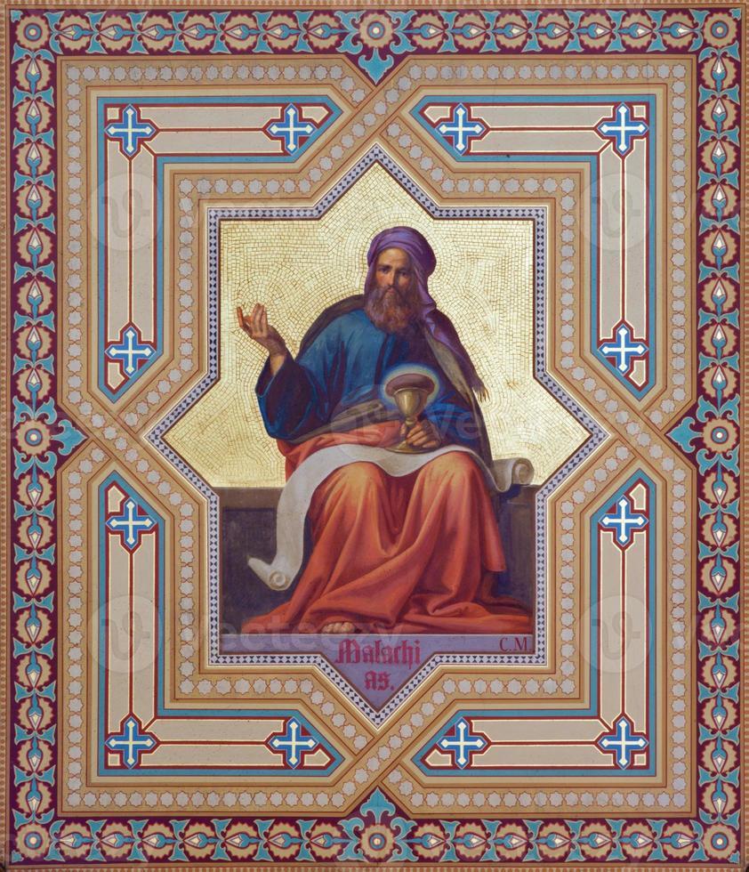 Vienna - Fresco of Malachi prophets photo