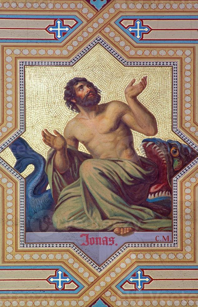 Vienna - Fresco of prophet Jonah photo