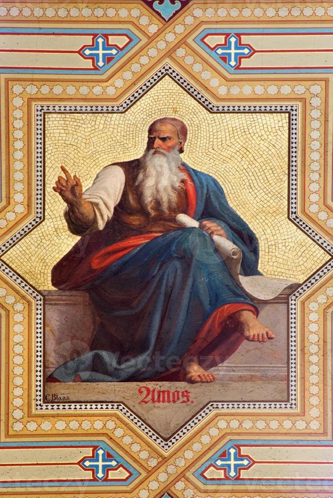 Vienna - Fresco of Amos prophet photo