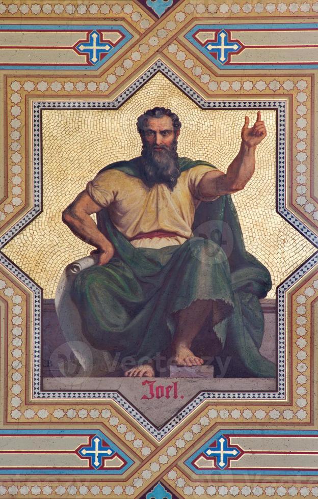 Vienna -  Fresco of Joel prophet photo