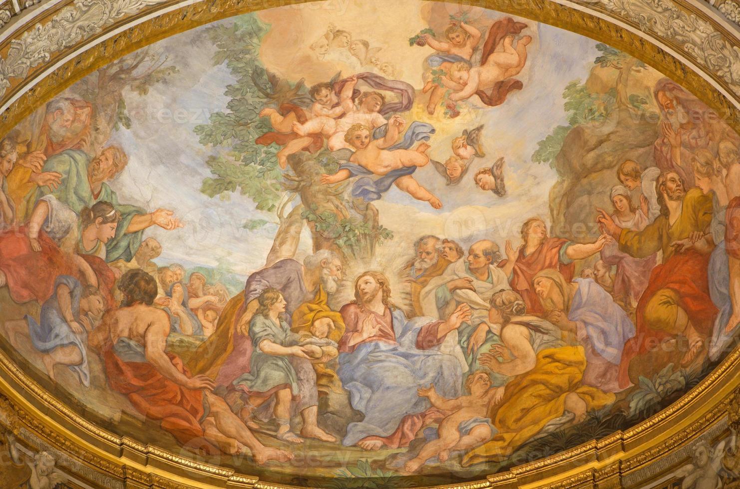 Rome -  Miracle of Multiplication fresco photo