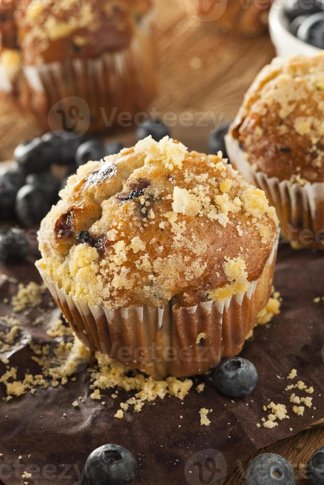 Homemade Blueberry Muffins for Breakfast photo