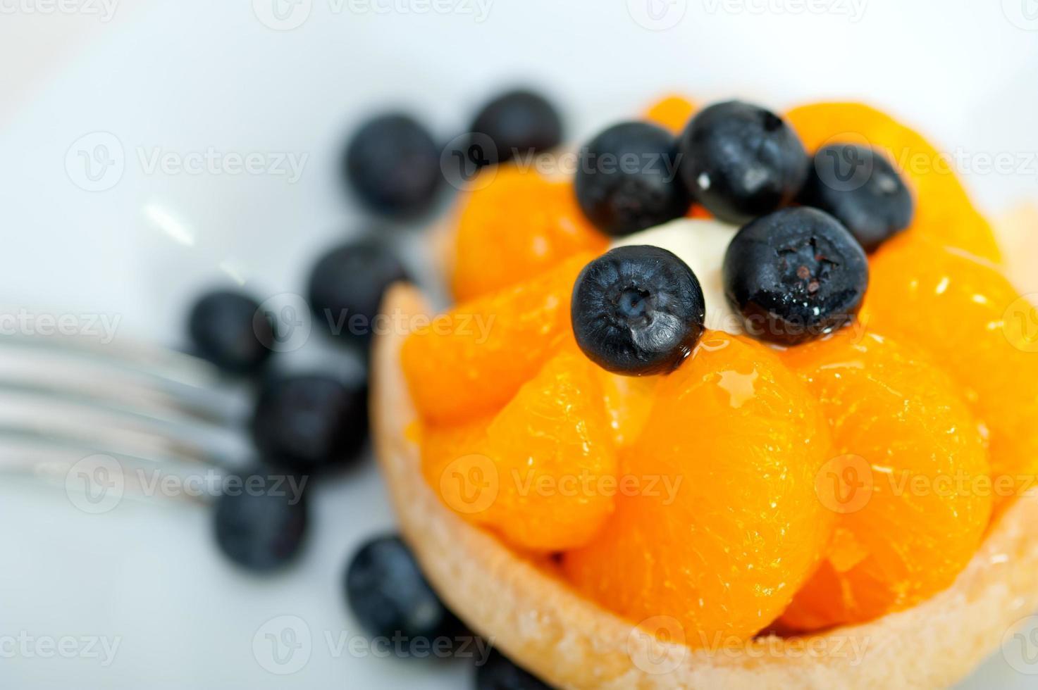 blueberry cream cupcake photo