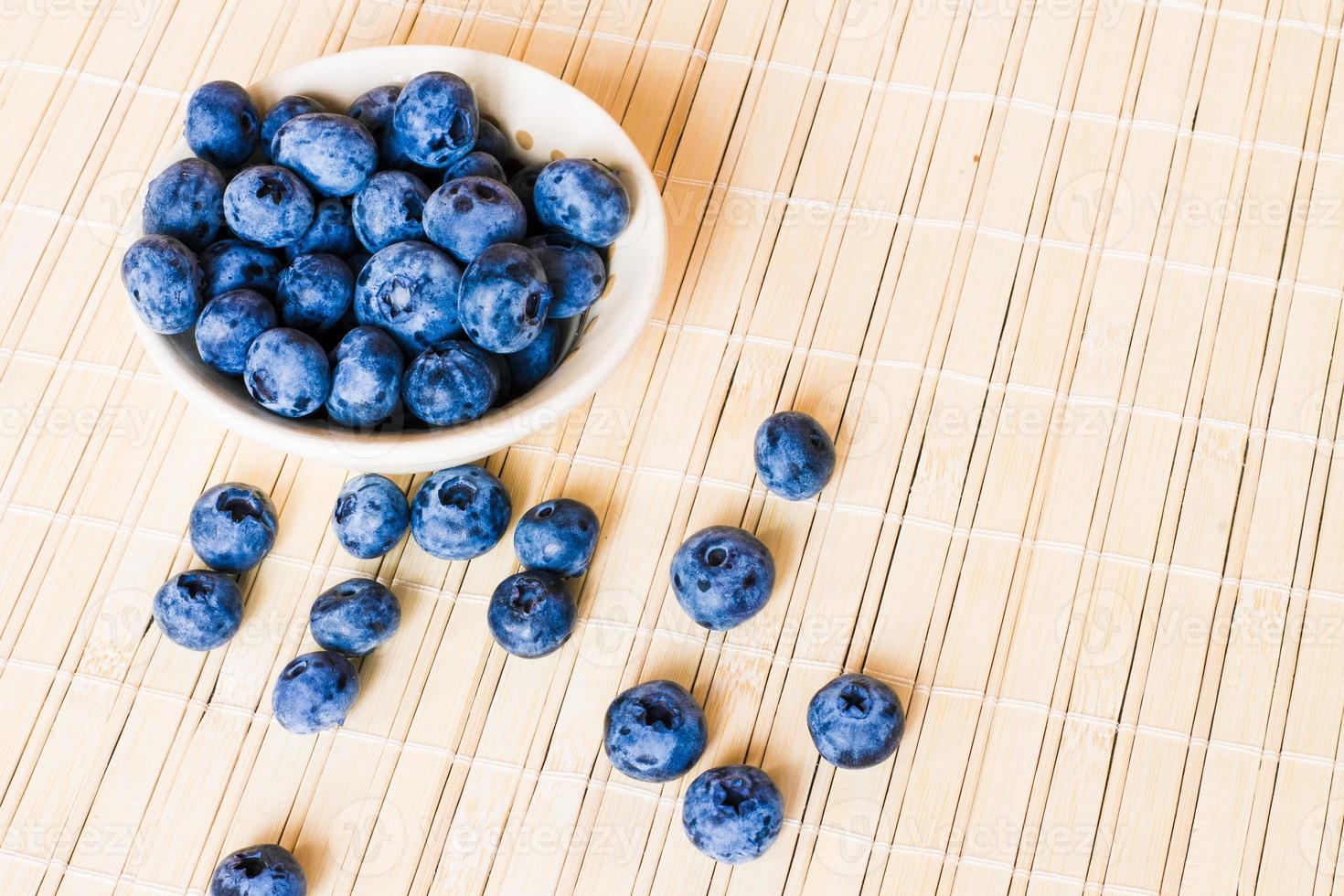 Fresh sweet blueberry fruit. photo