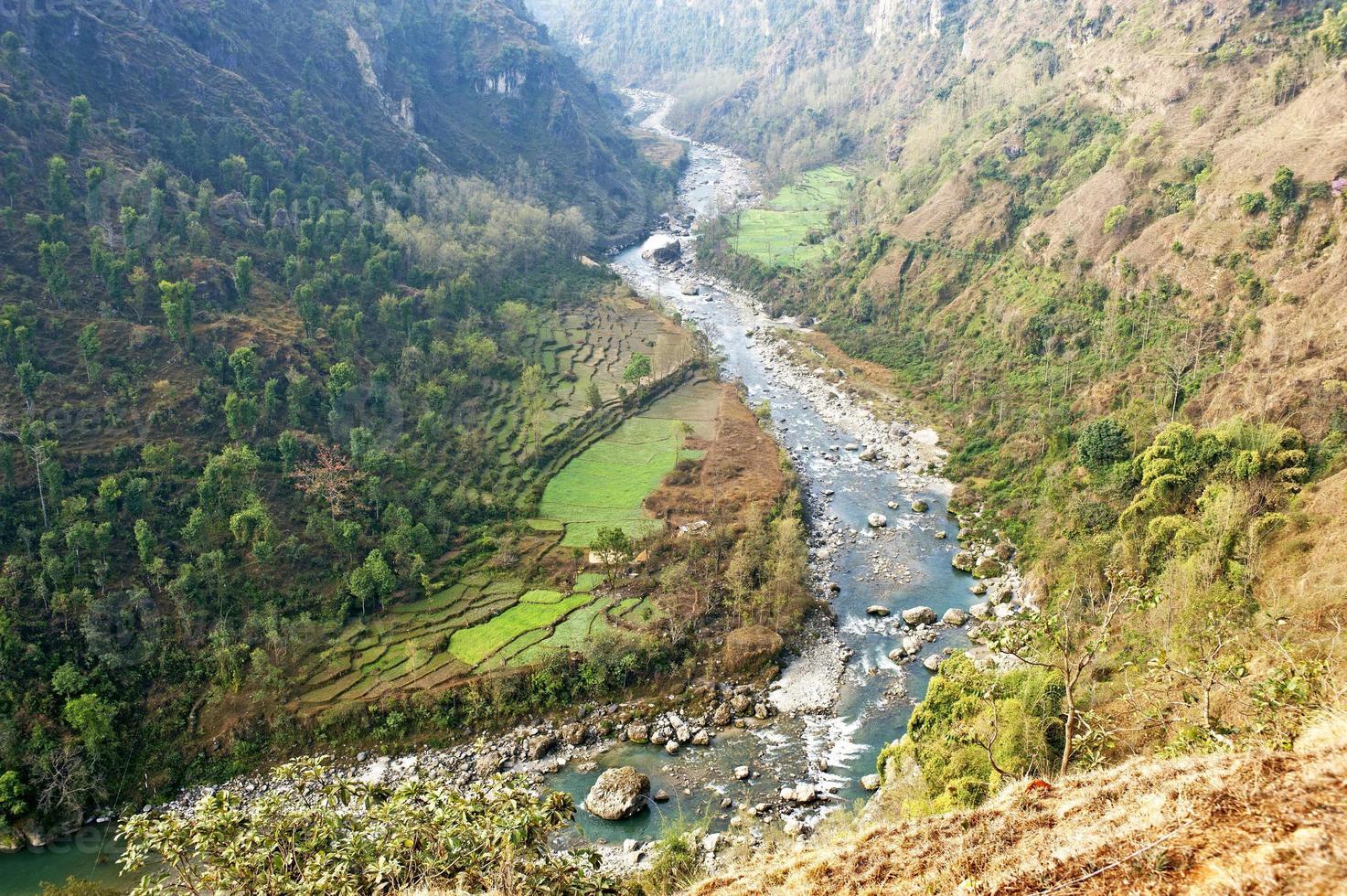 Modi river gorge photo