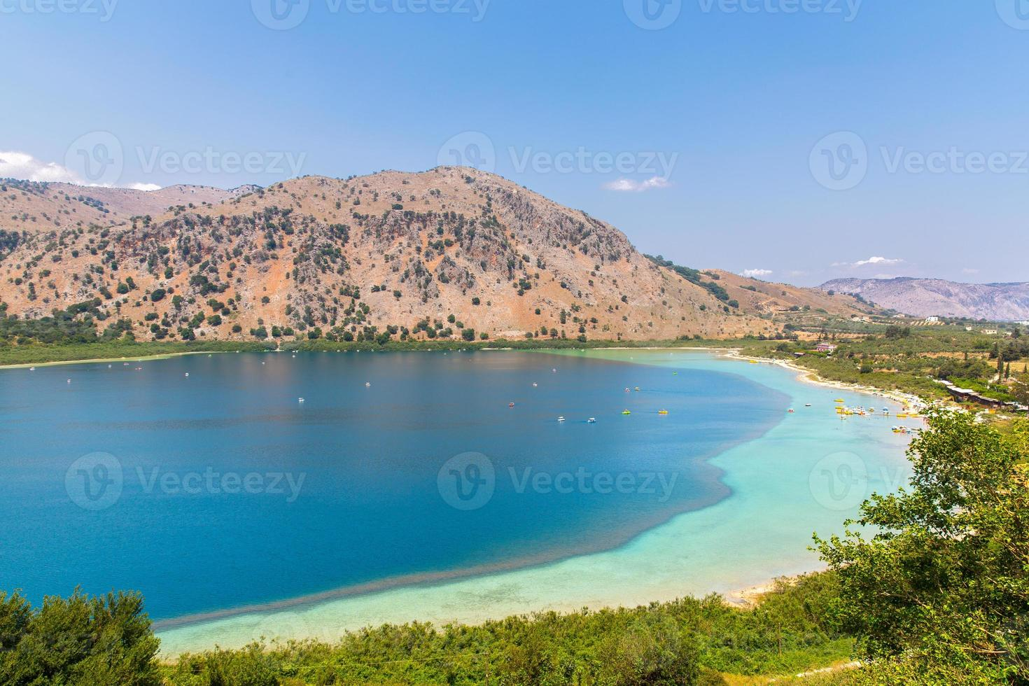 Freshwater lake in village Kavros in Crete, Greece photo