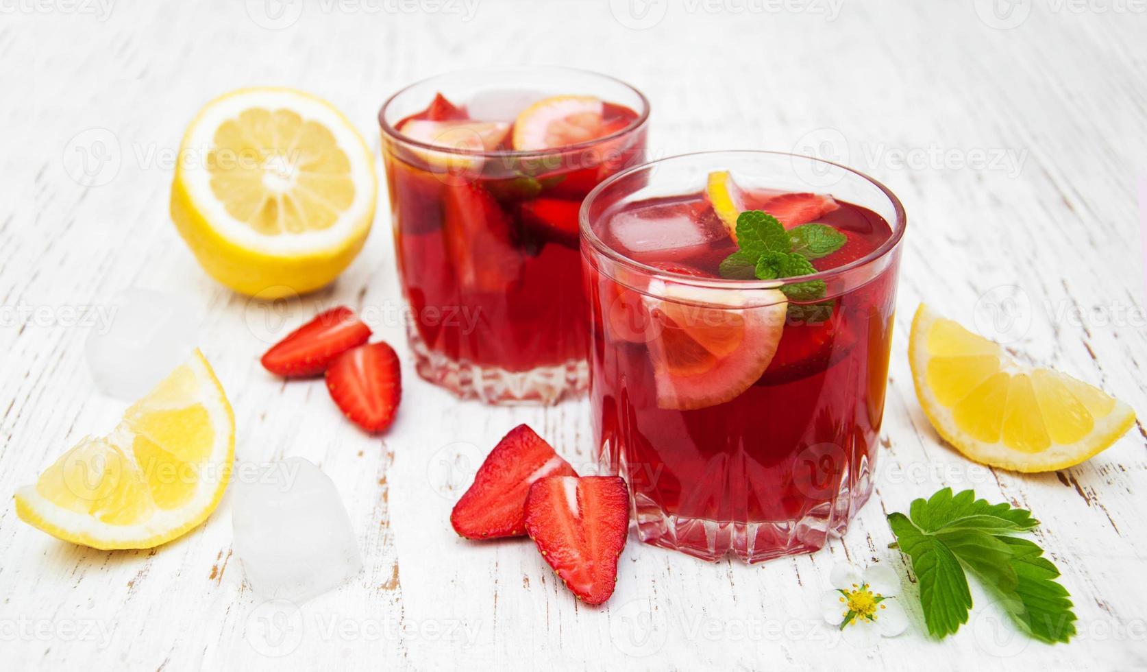 Summer strawberry drink photo