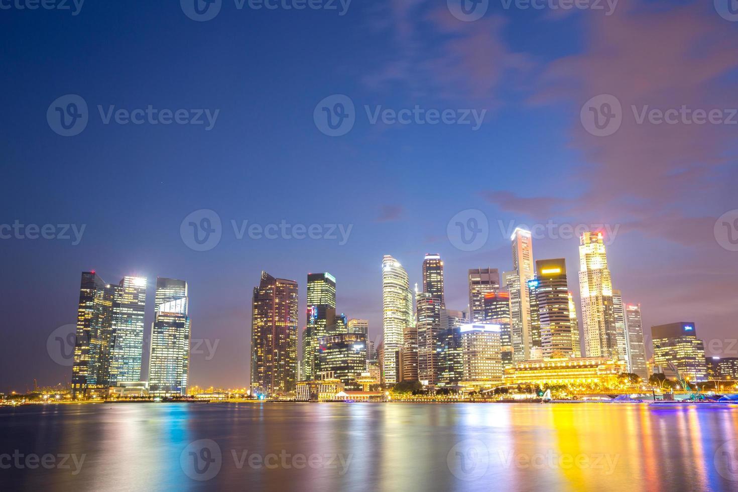 Singapore city downtown photo