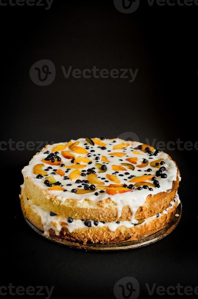pastel de galletas de verano foto