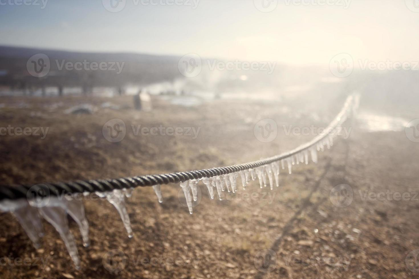 Frozen fence photo