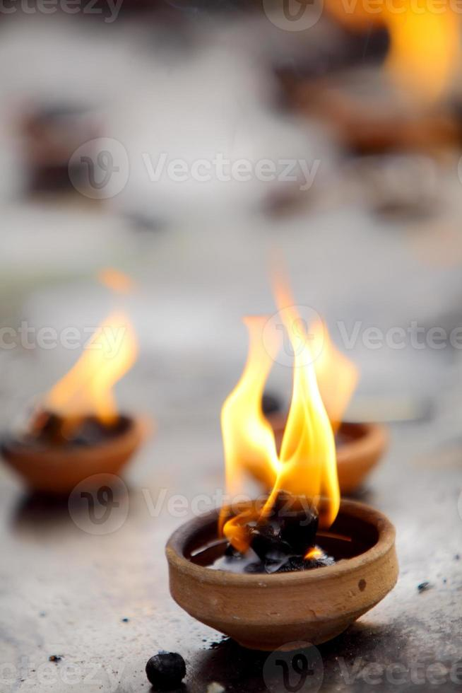 Traditional oil lamps photo