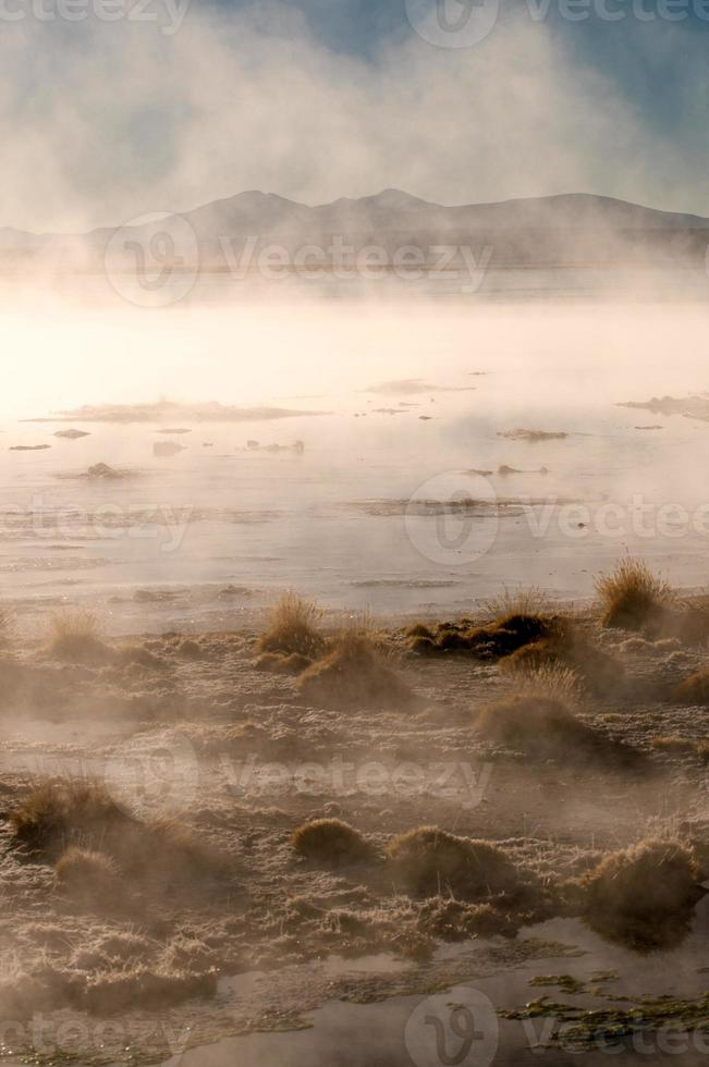 Thermal bath Salar de Uyuni, Bolivia photo