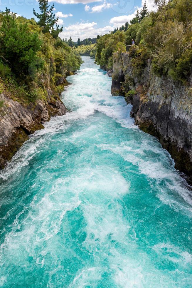huka falls - taupo, nueva zelanda foto