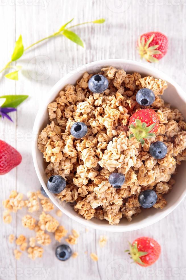 muesli with berry fruit photo