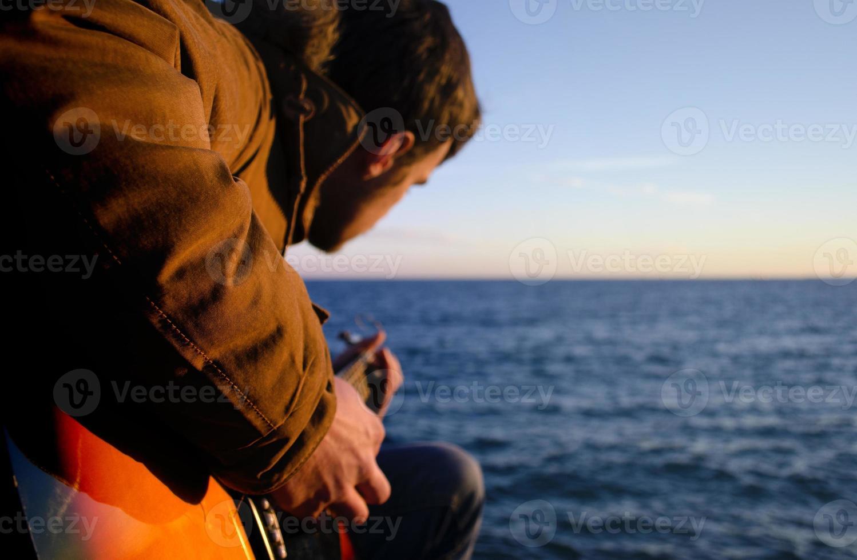 Guitar player photo