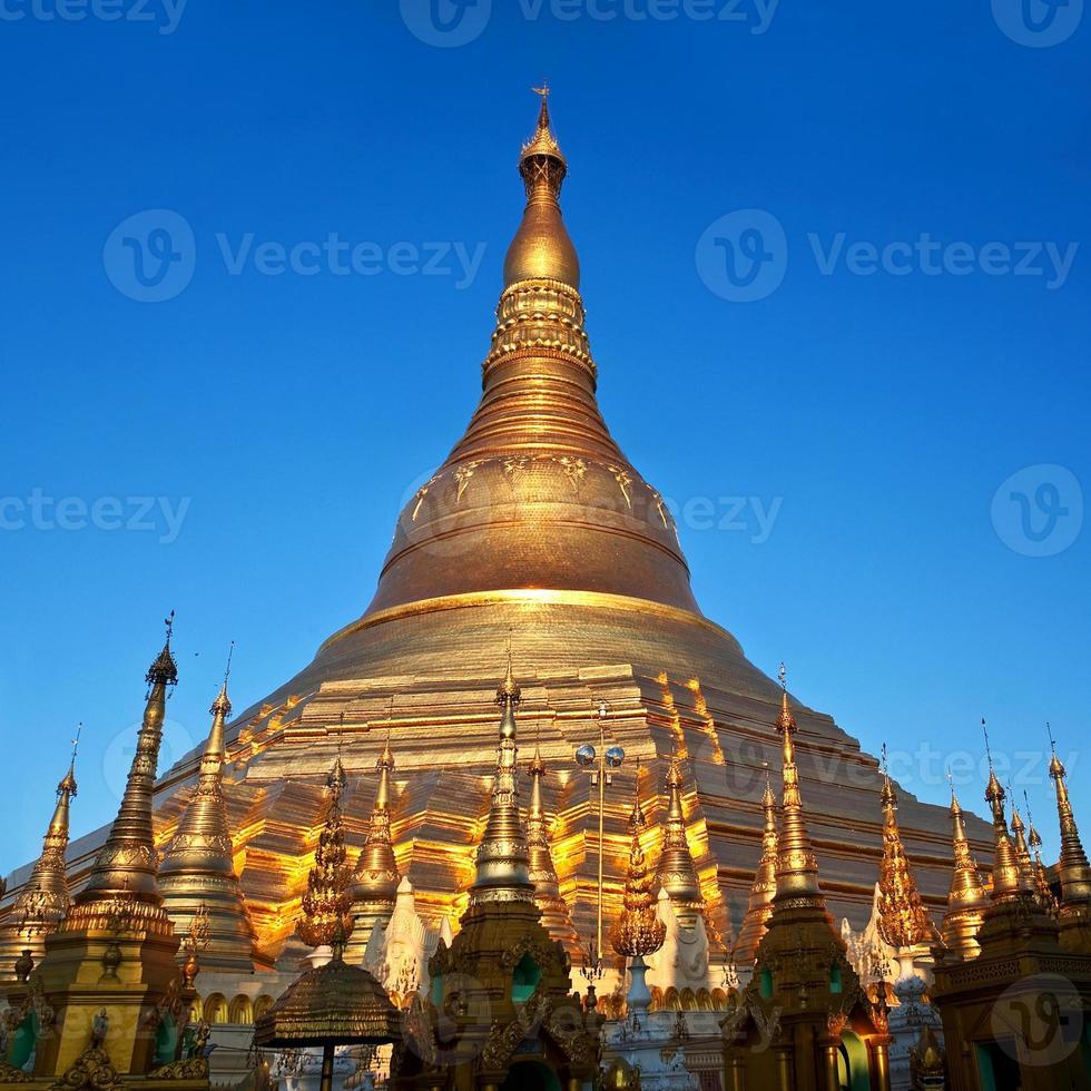 Shwedagon Pagoda in Yangon, Myanmar photo
