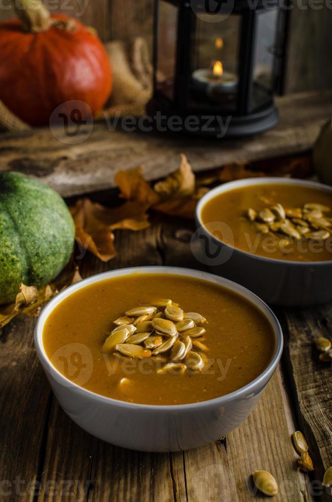 Halloween pumpkin soup photo