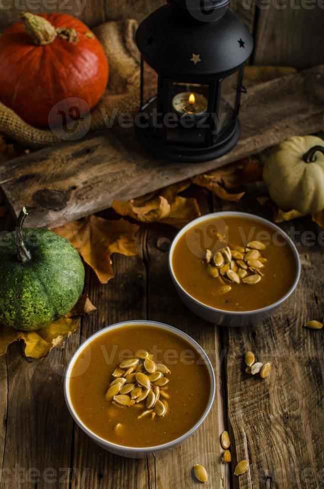 Halloween pumpkin soup photo