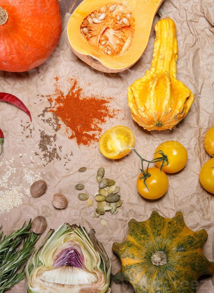 verduras y especias foto