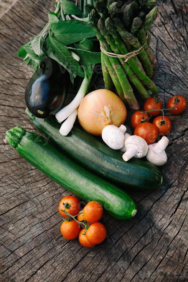 Fresh garden produce photo