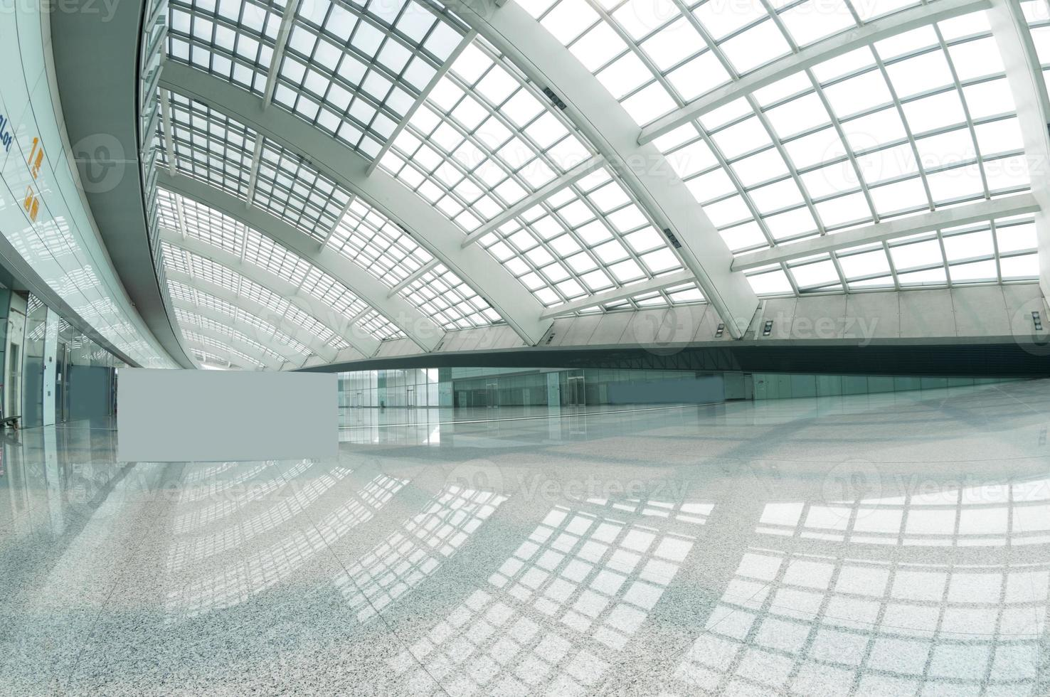 modern mall of beijin airport subway station. photo