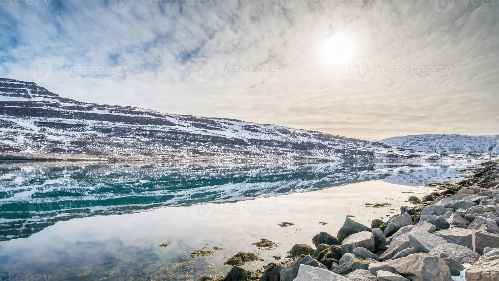winter landscape , iceland photo