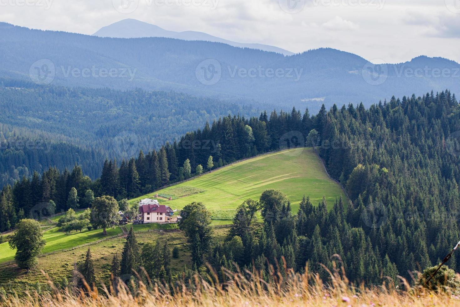 Rural mountain landscape photo