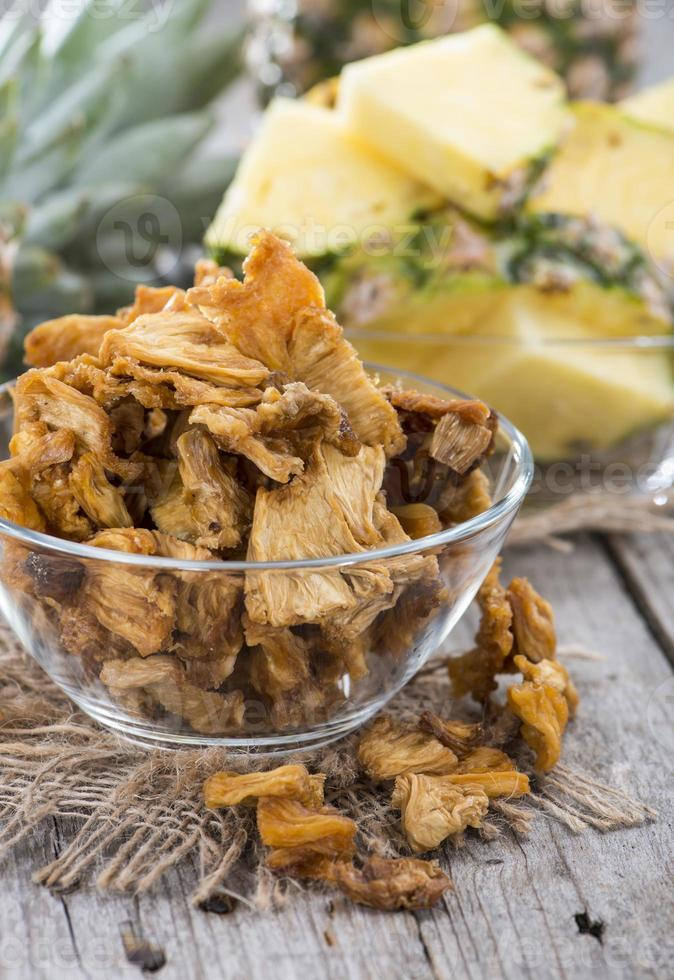 Portion of dried Pineapple photo
