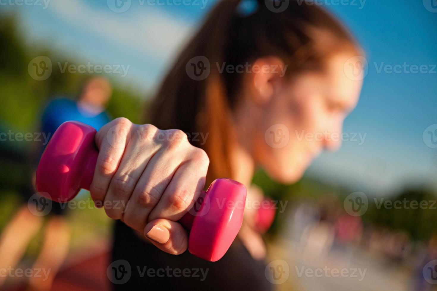 Young Woman Working Out photo