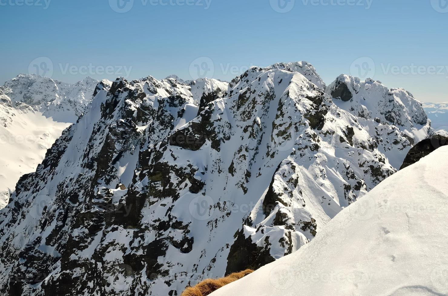 Winter landscape in mountains. photo