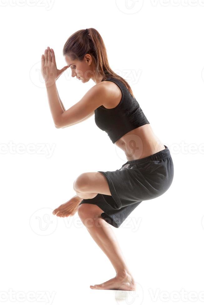 practica de yoga foto