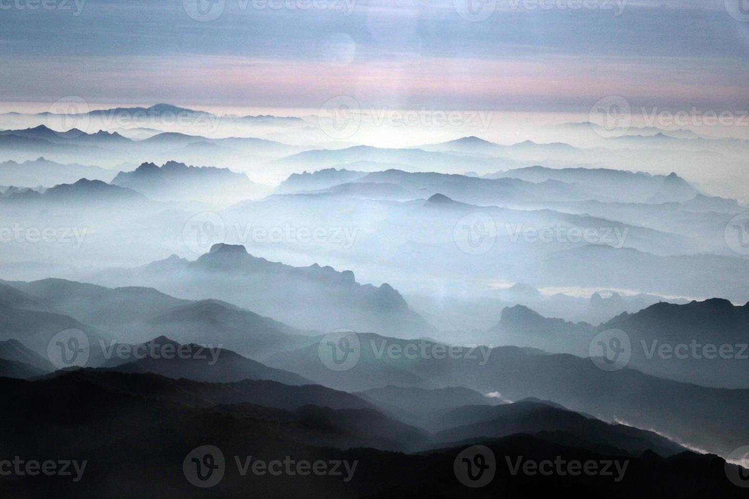 laos vang vieng landschapsbergen foto