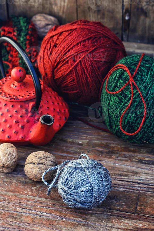 té caliente de invierno foto