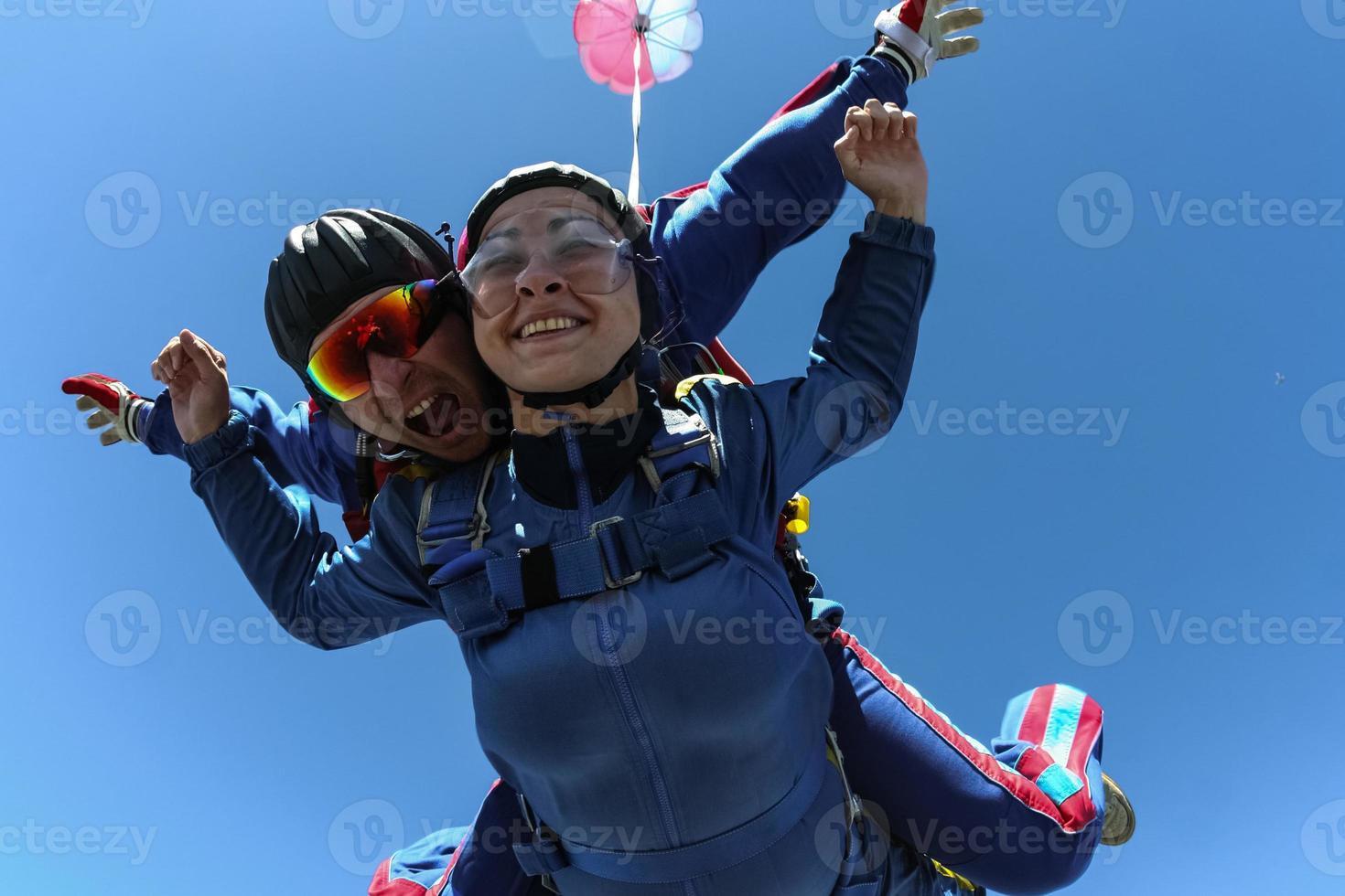 parachutespringen foto. tandem. foto
