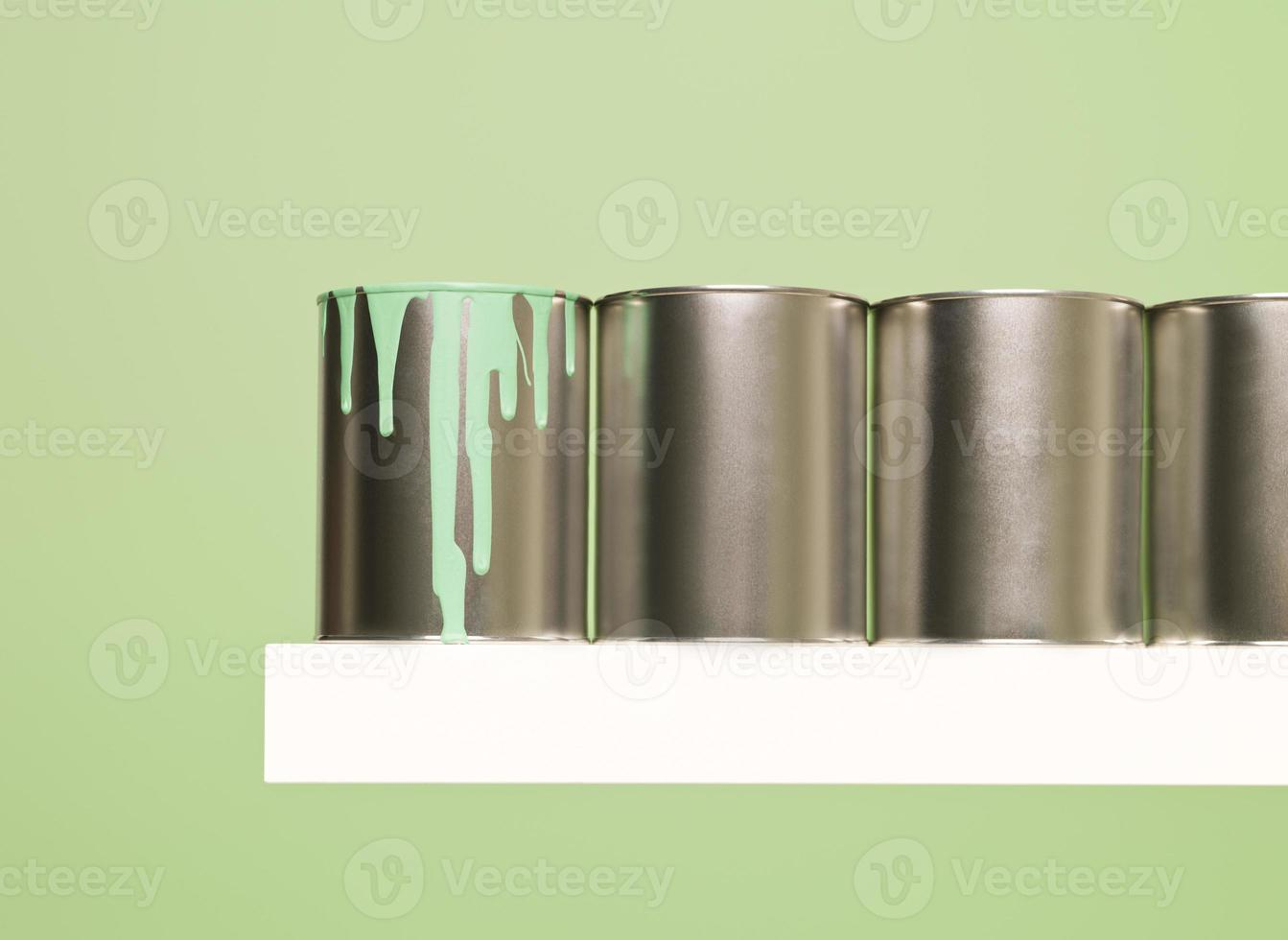 Paintcans in a row photo