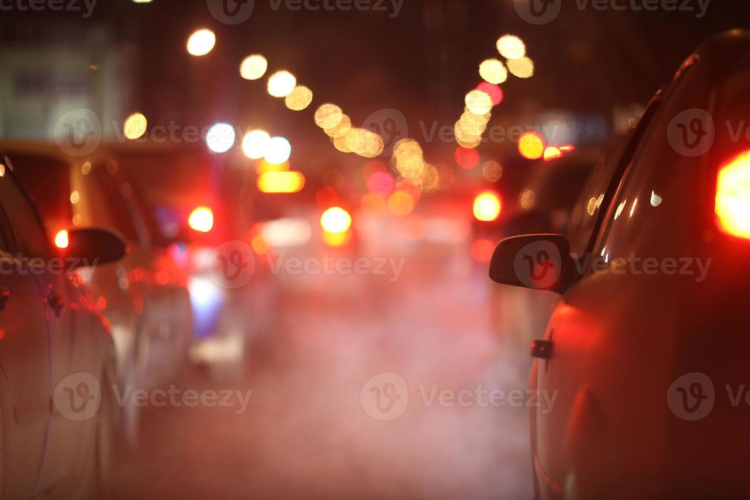 paisagem de inverno à noite na cidade foto