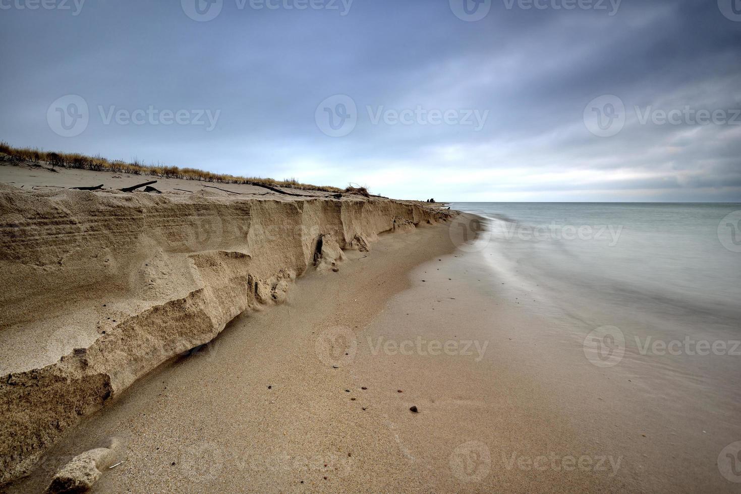 mar báltico en el hermoso paisaje, naturaleza foto